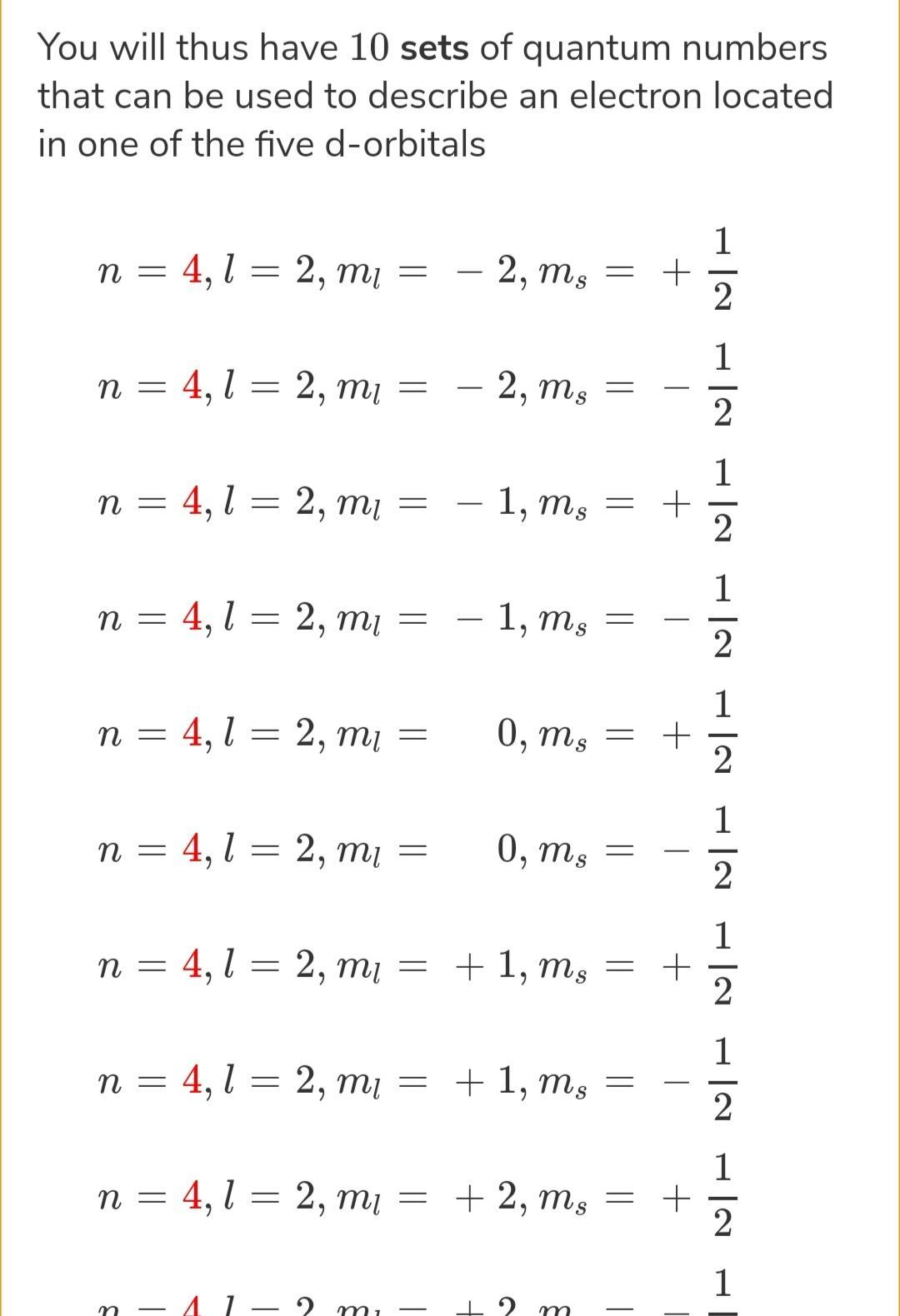 Which Of The Following Represents Correct Set Of The Four
