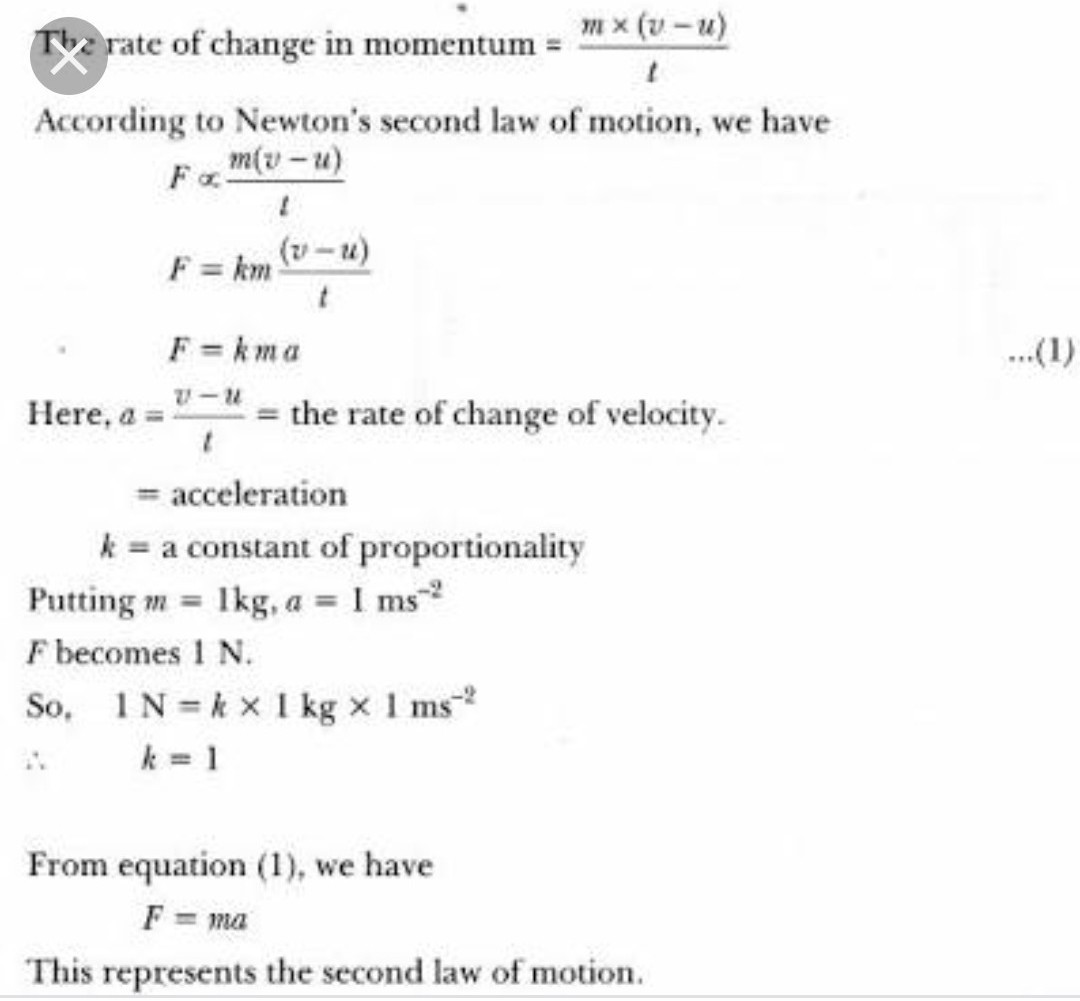 Derive 2nd Law Of Motion