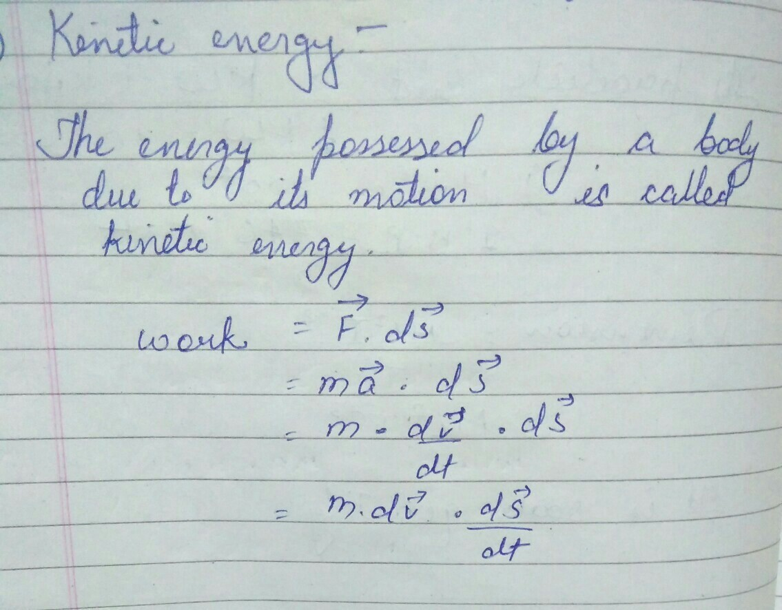 What Is The Formula Of Kinetic Energy