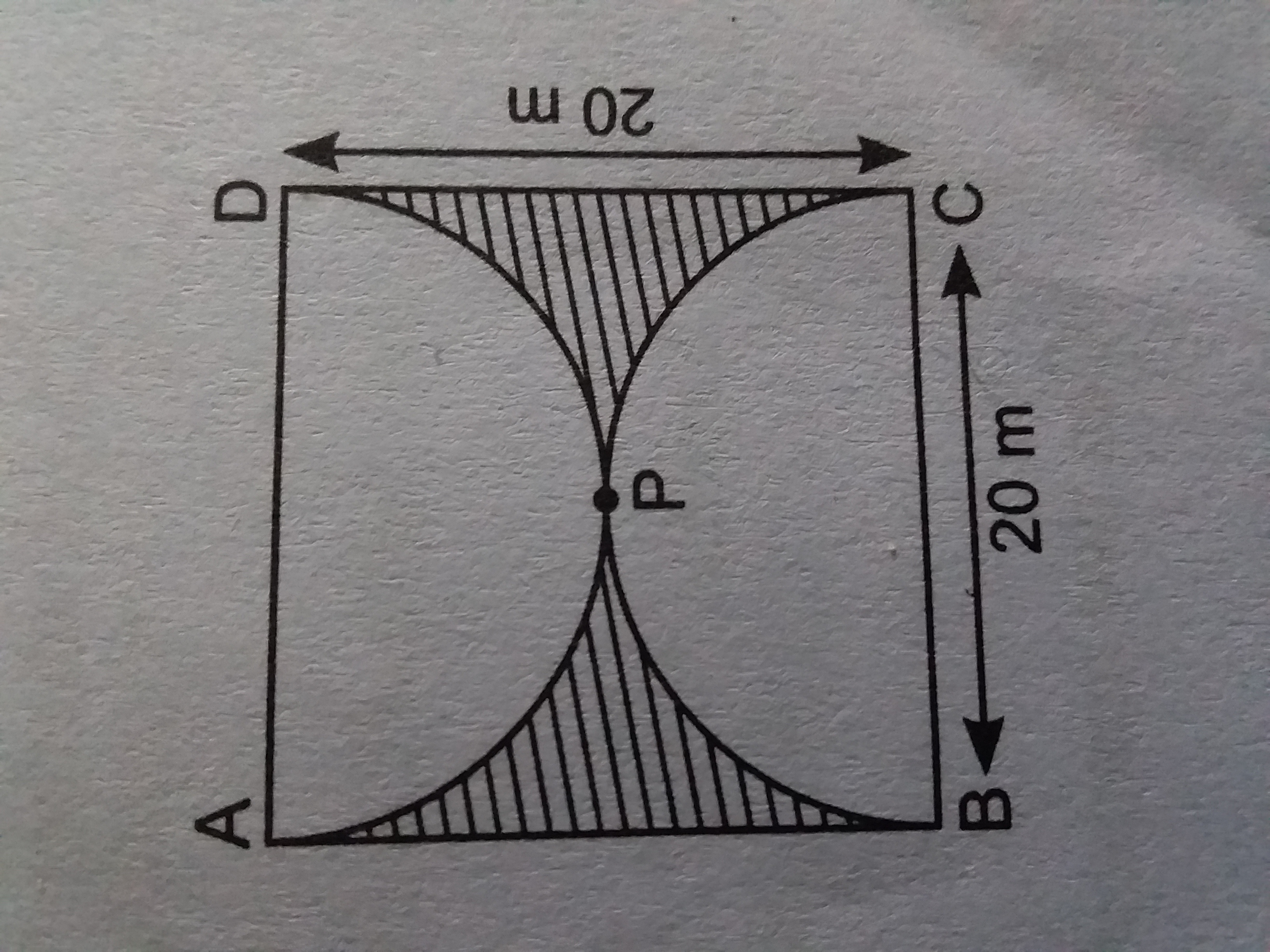 Find The Area Of The Shaded Region In The Given Figure If