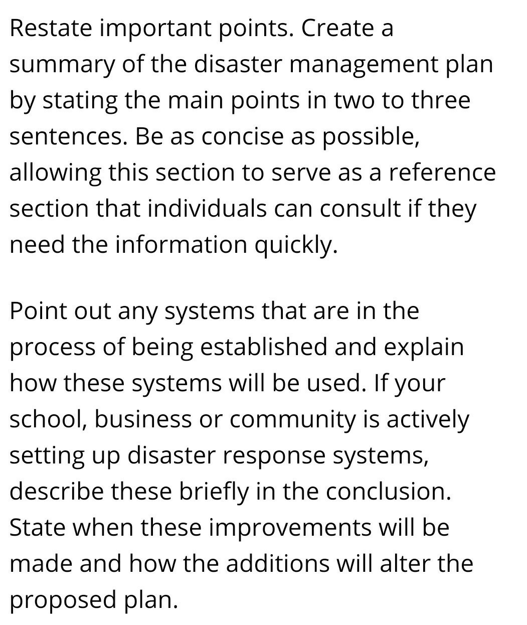 Conclusion Of Flood Disaster Management