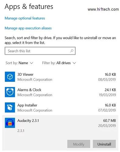 1 3 1 - كيفية الغاء تثبيت البرامج على نظام التشغيل ويندوز Windows 10