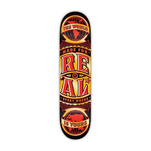 REAL SKATEBOARDS リアル スケートボード スケボー 通販 デッキ WORLD WIDE Medium