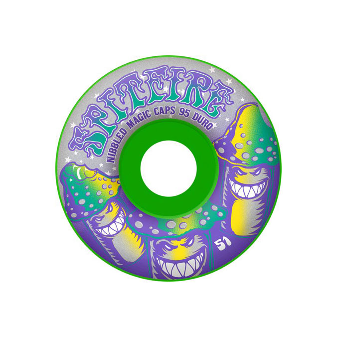 SPITFIRE WHEELS スケボー スケートボード ウィール TRIPPERS SOFTER DURO Green 57mm