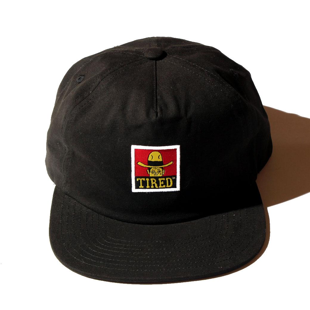 TIRED COWBAY LABEL HAT ブラック