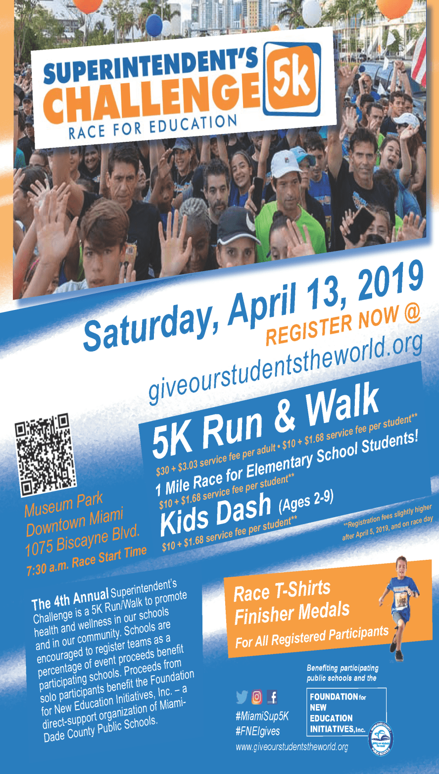 2019 Superintendent's 5K Run/Walk Race for Education @ Museum Park