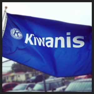 Kiwanis flag flying