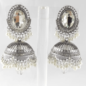 Silver Jhumka Earrings Design with Price in Pakistan 2021