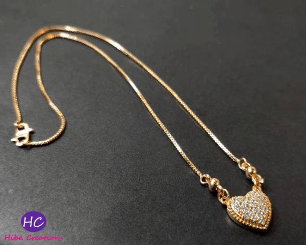 Gold Plated Heart Pendant Design with Price in Pakistan 2021