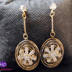Diamond Cut Flower Earrings Design with Price in Pakistan 2021