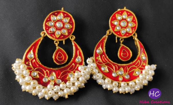 New Meenakari Earrings Design with Price in Pakistan 2021 Online