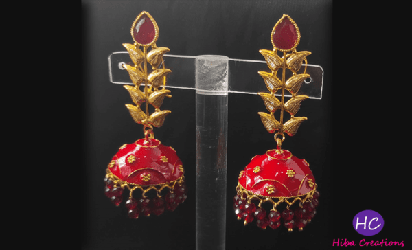 Red Drop Earrings Design with Price in Pakistan 2021 Online