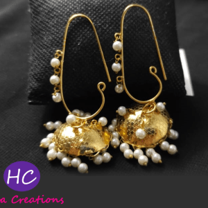 White Pearl Jhumki Earrings Design with Price in Pakistan 2021 Online