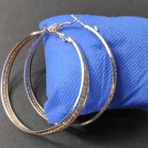 Golden Hoops Earrings Design with Price in Pakistan 2021