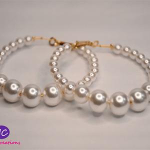 Pearl Hoop Earrings Design with Price in Pakistan 2021 Online