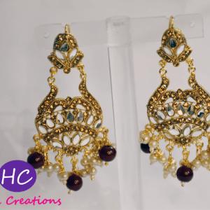 Fancy Green Pearl Earrings Design with Price in Pakistan 2021 Online