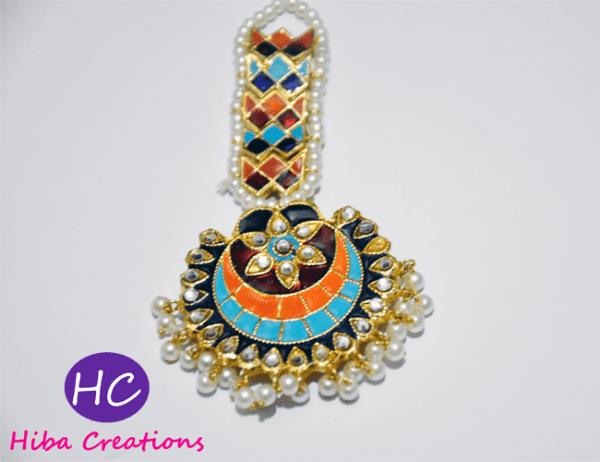 Multi Colour Meenakari Bindi Design with Price in Pakistan 2021 Online