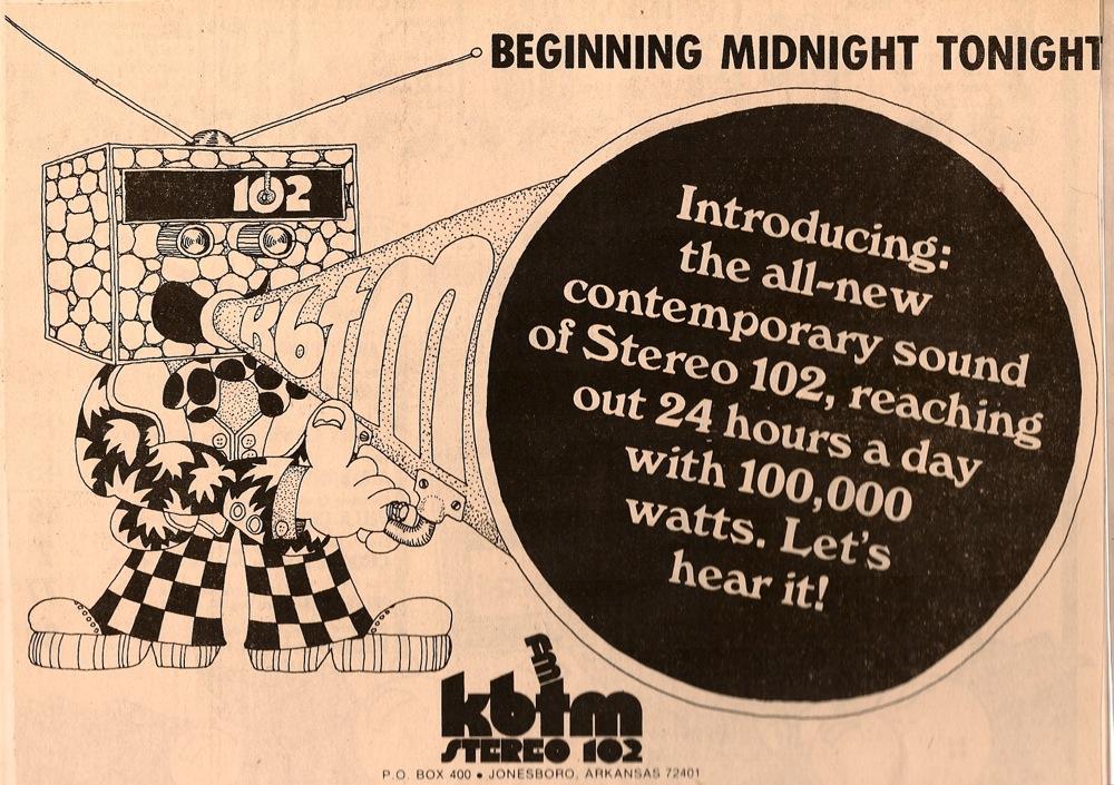 A History of Jonesboro's KBTM & KJBR, the First Licensed FM