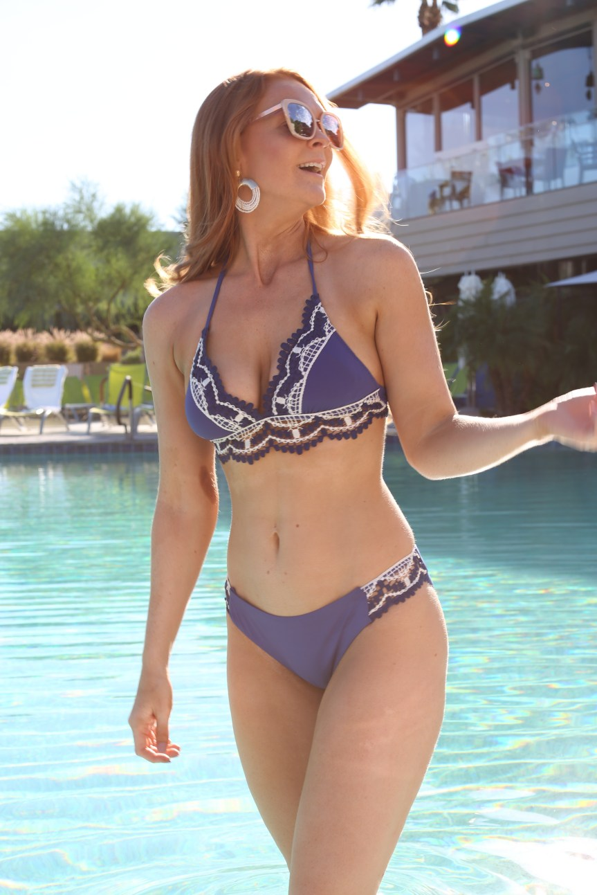 Swimwear by fashion blogger at Sanctuary Resort in Scottsdale, Arizona