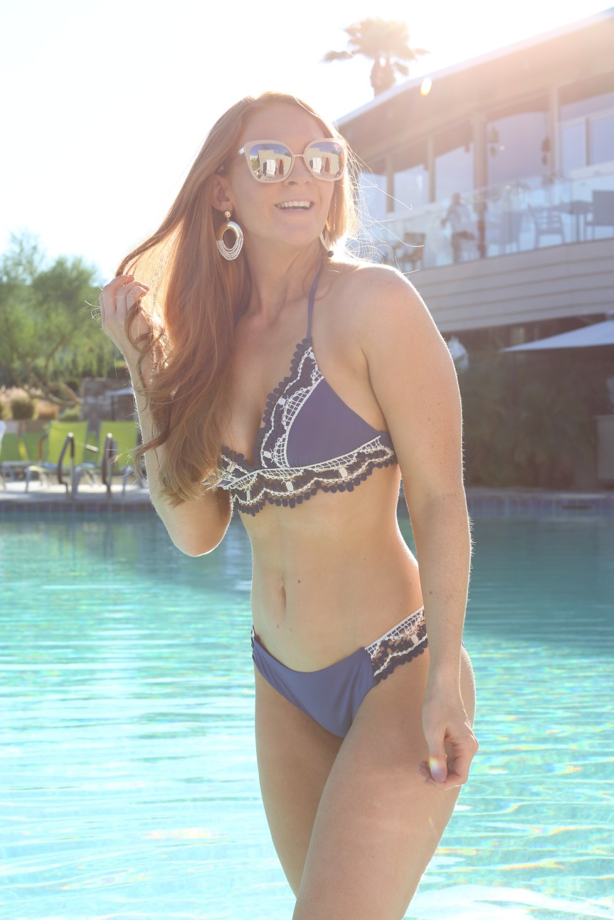 Fitness blogger shows off swimwear at Sanctuary Resort in Scottsdale, Arizona