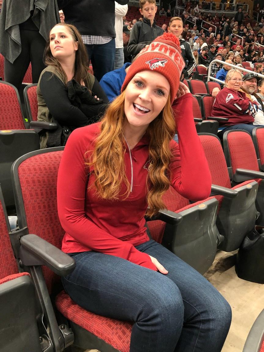 Arizona blogger at coyotes hockey game