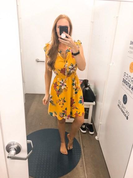 Old Navy Summer 2019 try on session Yellow dress