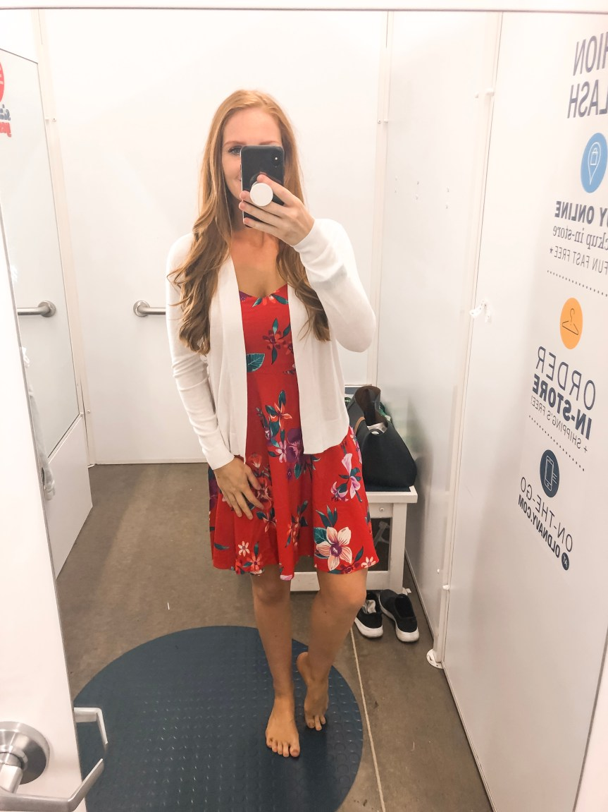 Old Navy Summer 2019 try on session red dress