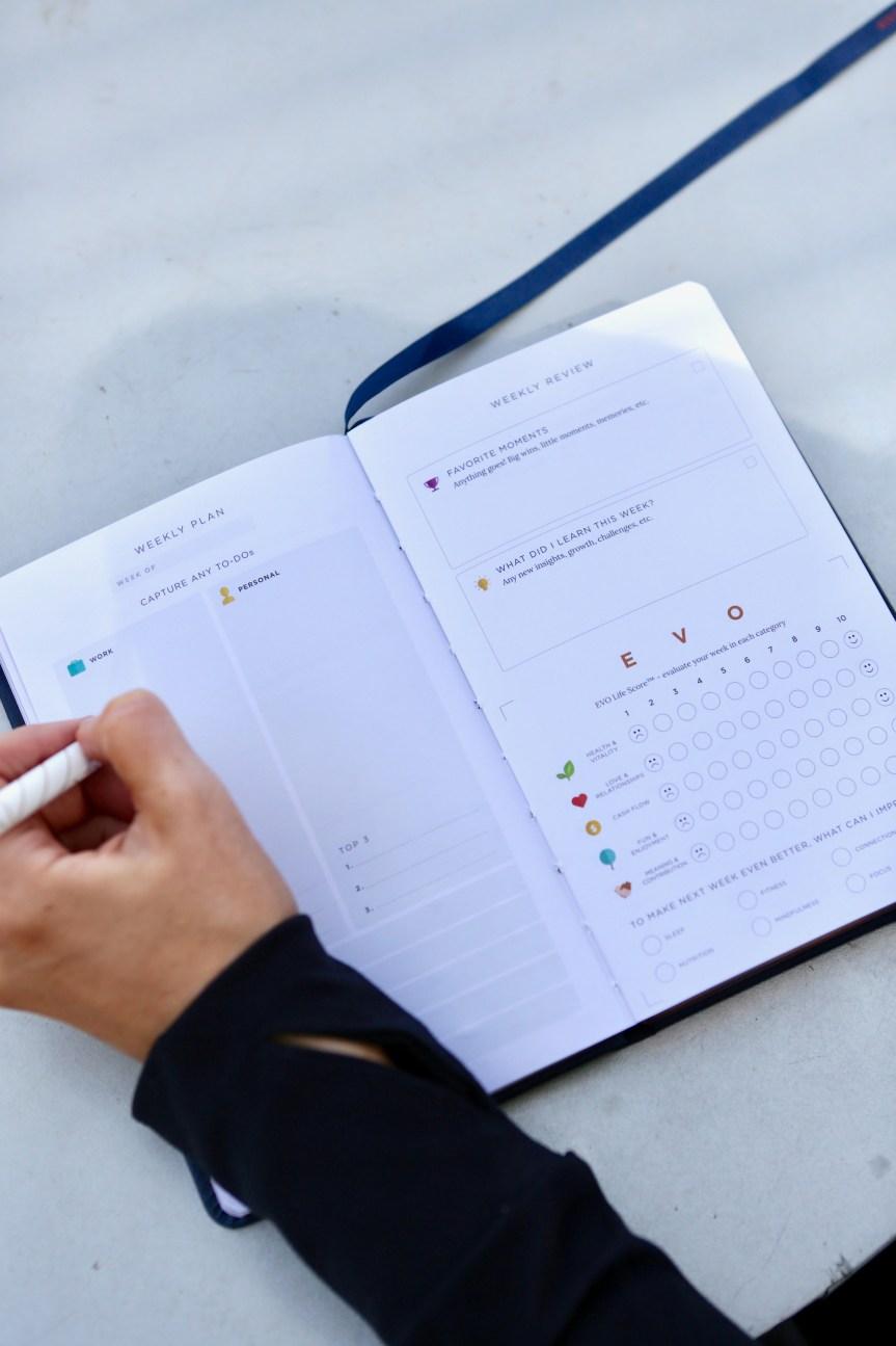 Evo Planner Weekly Plan / Weekly Review