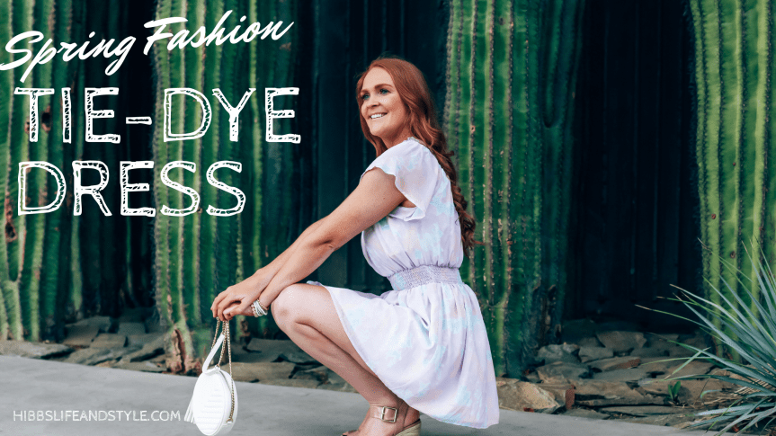 Tie-Dye Ruffle Dress for Spring!