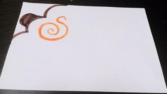 羊の年賀状手書き2
