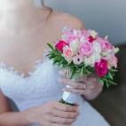 bouquet de mariée rose fushia et blanc