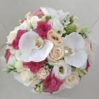 bouquet de mariée rose te blanc