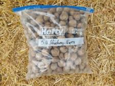 five pound freezer bag of shagbark hickory nuts