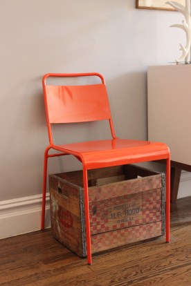 Chair + milk crate