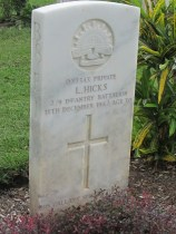 Lyle Hicks - Bomana War Graves - CWG - PNG