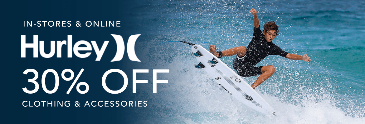 Take 30% Off Hurley Clothing & Accessories