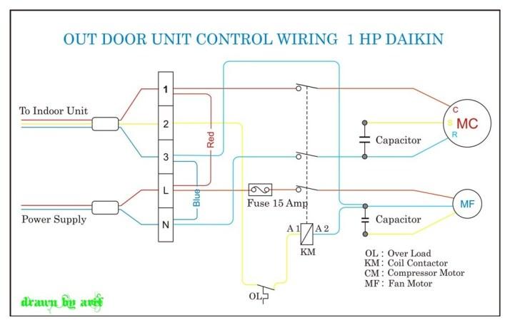 Daikin Outdoor Wiring   REFRIGERATION & AIR CONDITIONING