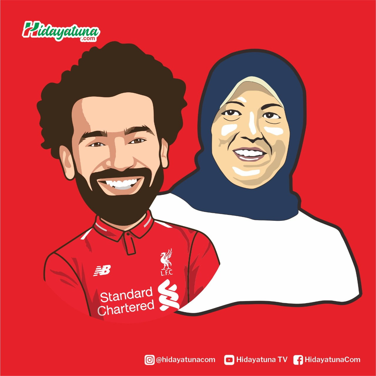 Mohamed Salah (Ilustrasi/Hidayatuna)