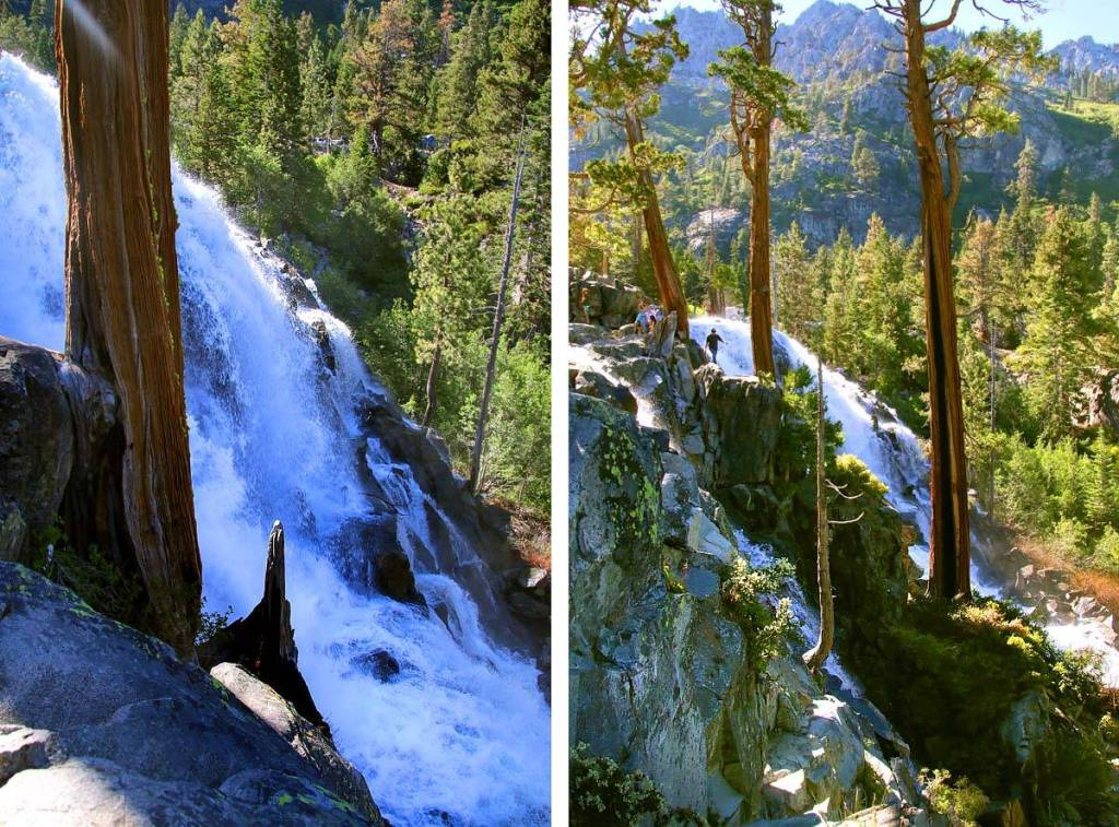 Take a quick hike to one of Lake Tahoe's massive waterfalls, Lower Eagle Falls