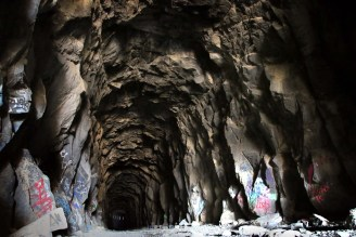 Donner Summit Tunnel Hidden California