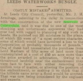 Newspaper clipping of the site