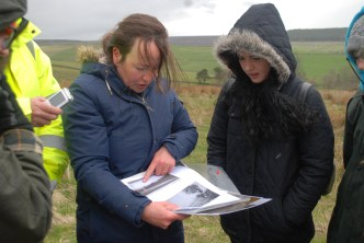 Amanda showing her research to the group (Photo by Ashley)
