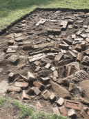 Trench with Bricks