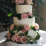 3 tiered white wedding cake by utah catering and cakes