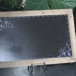 chalkboard sign for wedding reception