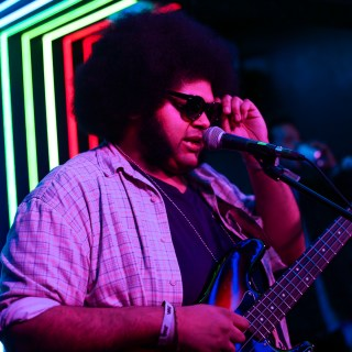 Photo of Dylan Cartlidge at The Great Escape Festival 2018 featured on Hidden Herd new music blog