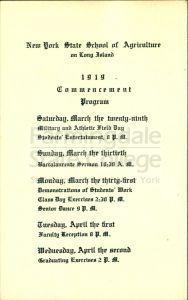 Commencement schedule
