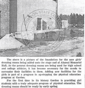 An image of Gordon State College building a dressing room for young women