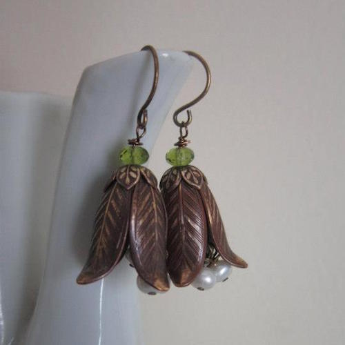 Meg Wicke's Ceramic Leaf Earrings