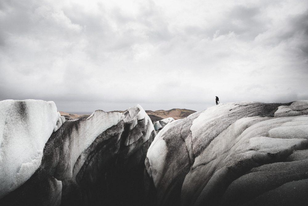 Glacier crevasse   Hidden Iceland